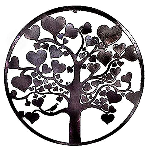 Art Décor: Cheap Bellaa 20223 Love Tree Of Life Metal Wall Hanging