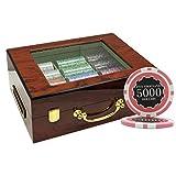 MRC 500pcs Eclipse Poker Chips Set with Customized Wood Case Custom Build