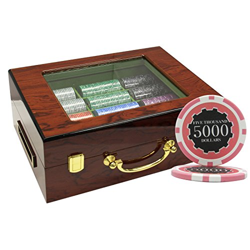 MRC 500pcs Eclipse Poker Chips Set with Customized Wood Case Custom Build by Mrc Poker