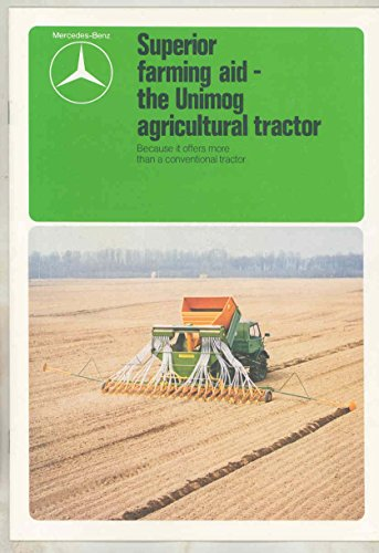1981 Mercedes Benz Unimog in Agriculture Tractor Truck Brochure German from Mercedes Benz
