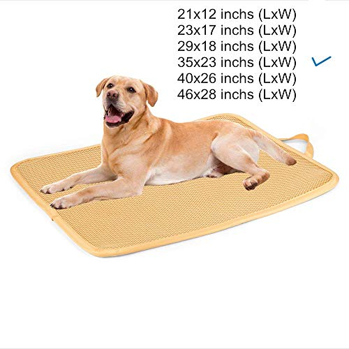 - Kimi Homes Dog Crate Mat - Antibacterial & Anti-mold Kennel Pad, Easy Cleaning Dog Crate Bed with Mesh Technology, Perfect Four Season Functions for Dogs, Cats and More - 36 Inchs