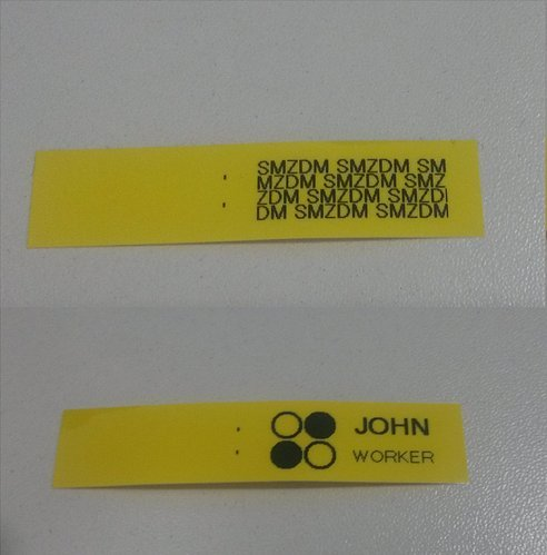DYMO Standard D1 45808 Labeling Tape Black Print on Yellow Tape , 3//4/'/' W x 23