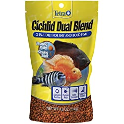 Tetra Cichlid Dual Blend, 2-In-1 Diet For Shy and Bold Fish, 4-Ounce