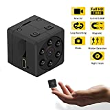 Ankuka Magnetic Mini Spy Hidden Camera,1080P HD Portable Small Nanny Video Cam with Night Vision and Motion Detection, Tiny Home Security Camera for House, Office