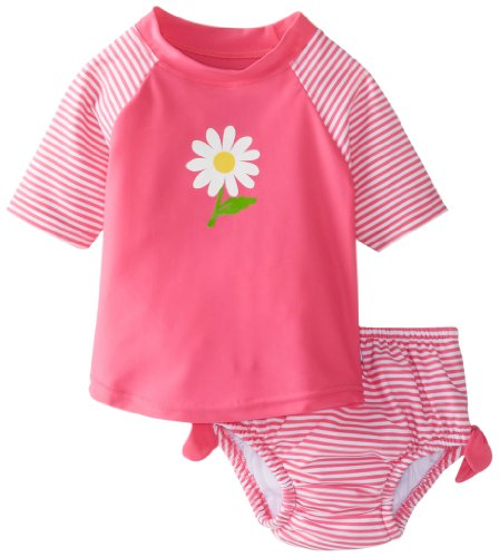 i Play Two Piece Sun Protective Rashguard and Swim Diaper Set for Girls