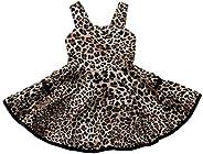 Becoler Baby Girls Dress Leopard Print Strap Ruffles Multi-Layer Summer Outfits