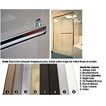 """Oil Rubbed Bronze Sliding Frameless Shower Door Single Towel Bar Kit - 24"""" long"""