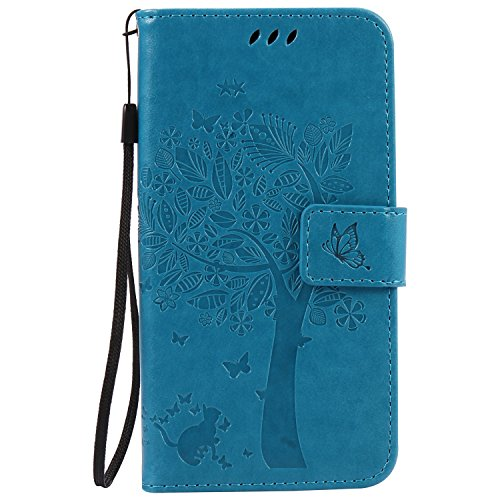 Moto G4 Play Case, Harryshell Caving Tree Kickstand Flip PU Wallet Leather Protective Case Cover with Card Slot & Wrist Strap for Motorola Moto G Play ...