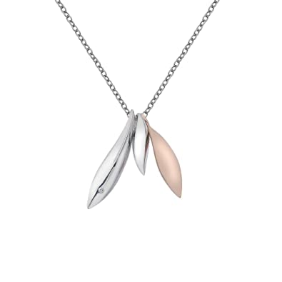 Hot Diamonds Leaf Pendant with Chain of 45-45cm aCeqCl