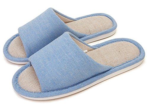 Pantofole Blusa Da Donna Solide Antiscivolo In Lino Bianco Pantofole Da Donna