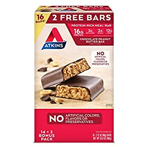 Well-Being-Matters 511i-pmIcjL._SS300_ Atkins ProteinRich Meal Bar, Chocolate Peanut Butter, 16 Count