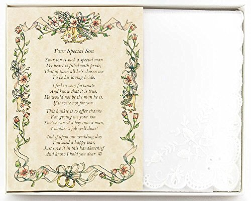 Wedding Hankie (Wedding Collectibles Poetry Hankie From the Bride to her Mother-in-Law Wedding Handkerchief)