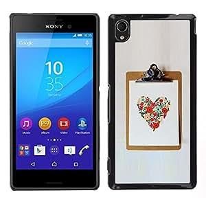 For Sony Xperia M4 Aqua , S-type® Love Spring Summer Poster Work - Arte & diseño plástico duro Fundas Cover Cubre Hard Case Cover