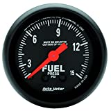 "Auto Meter 2603 Z-Series 2-1/16"" 0-15 PSI Mechanical Fuel Pressure Gauge"