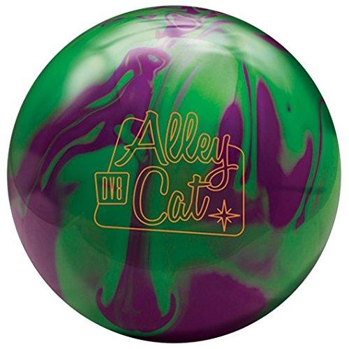 DV8 Alley Cat Bowling Ball- Purple/Green, 15lbs