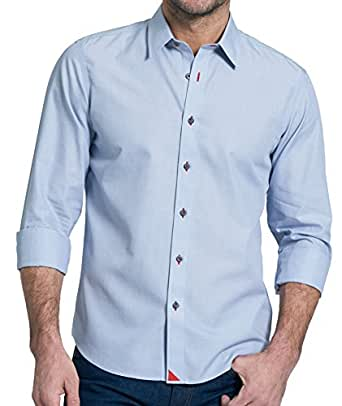 Untuckit rubican wrinkle free men 39 s button down shirt for Wrinkle free dress shirts amazon