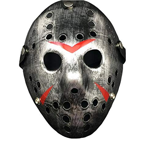 Porous Jason Voorhees Mask, Cosplay Hockey Scary Costume Masks Props for Halloween Masquerade Party]()