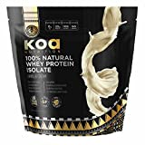 100% All Natural Whey Protein Isolate by Koa Nutrition | Performance Driven, Pure Protein Isolate with BCAAs and No Artificial Flavors or Sweeteners – Vanilla – 6lb Bag