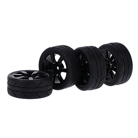 MagiDeal 4 Piezas 1/10 RC en Neumáticos de Coche de Deriva de Carreteras Rueda