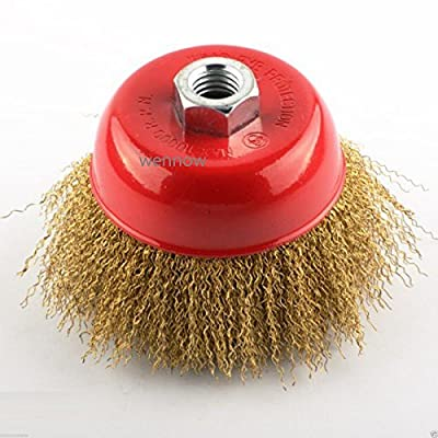 "Wennow New 3"" Fine Wire Cup Brush Wheel 5/8"" Arbor FITS 4-1/2"" Angle Grinder"
