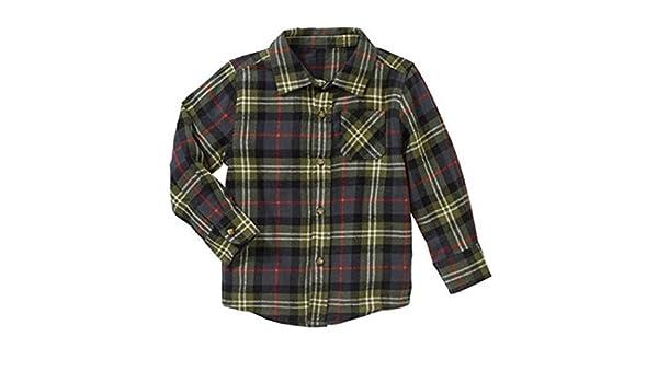 6676804d7 Amazon.com: Healthtex Baby Toddler Boys Flannel Shirt (Green, 2t): Clothing