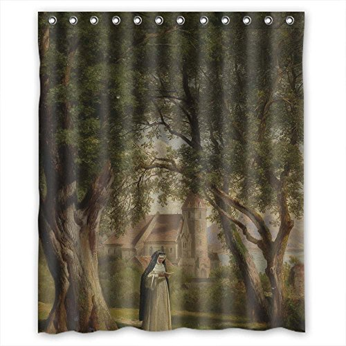 Eyeselect Bath Curtains Of Beautiful Scenery Landscape Painting Polyester Width X Height   60 X 72 Inches   W H 150 By 180 Cm Best Fit For Mother Lover Hotel Girls Custom  Durable  Fabri