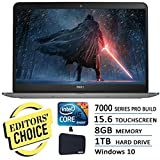 Dell 7000 Series 15.6 Touchscreen Pro Laptop Flagship Edition Intel i5-5200U 2.7Ghz 8GB 1TB HDD WIDI HDMI Backlit Keyboard MaxxAudio 802.11AC Windows 10 Silver