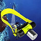 Goldengulf Cree L2 Waterproof Diving Swimming Hiking Camping Hunting Fishing Headlamp Underwater 1800 Lumen Safety Head Light Flashlight
