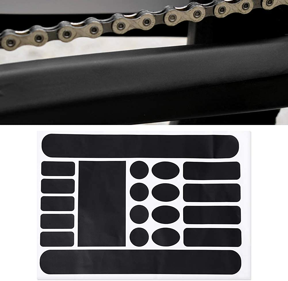 Qii lu Universal Bicycle Sticker Bicycle Frame Protective Sticker Frame Protective Foil Bike Protector Chain Guard Anti-Scratch Protector for Mountain Bike Road MTB BMX