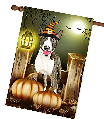 Bull Terrier Dog Halloween Garden Flag House Flag A Perfect Home Decor Dog Lovers Dog Lovers Gifts Gifts Family