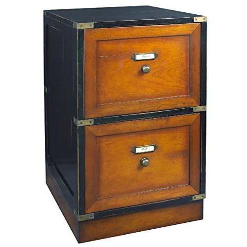 Campaign Files in Black and Brown Finish - Vintage Filing Cabinet: Amazon.com