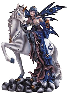 StealStreet SS-G-91464 Blue Fairy Riding Unicorn Collectible Figurine Decoration Statue Decor