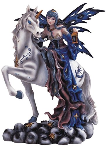 - StealStreet SS-G-91464 Blue Fairy Riding Unicorn Collectible Figurine Decoration Statue Decor