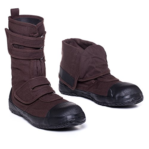 (fugu Sa-Me Japanese Vegan & Eco-Friendly Mid-Calf Boots with Rubber Sole (USM7.5-8/JP 25.5, Dark Brown))