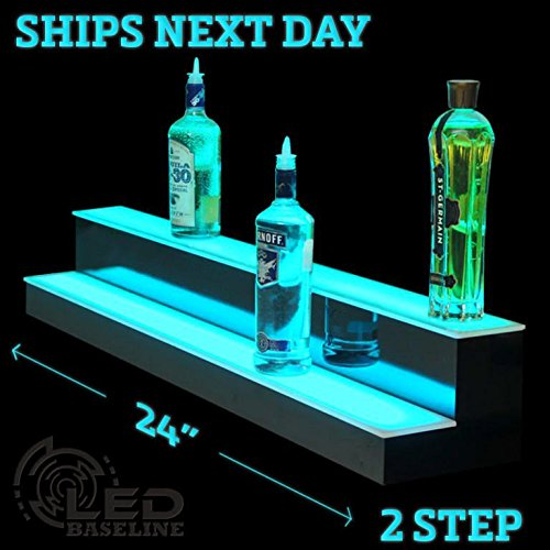 2 Step Bar Shelf Bottle Glorifier (Discount Step Bars)