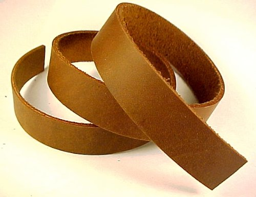 2 x 84 BROWN OIL TANNED Leather Strip 5-6oz LeatherRush Leather Rush
