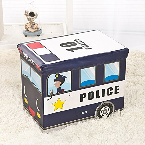Hever Kid's Police Car Collapsible Storage Box and Toy Or...