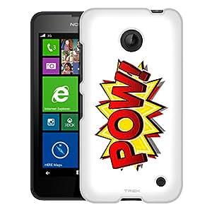 Nokia Lumia 635 Case, Slim Fit Snap On Cover by Trek POW! Comic Book on White Case