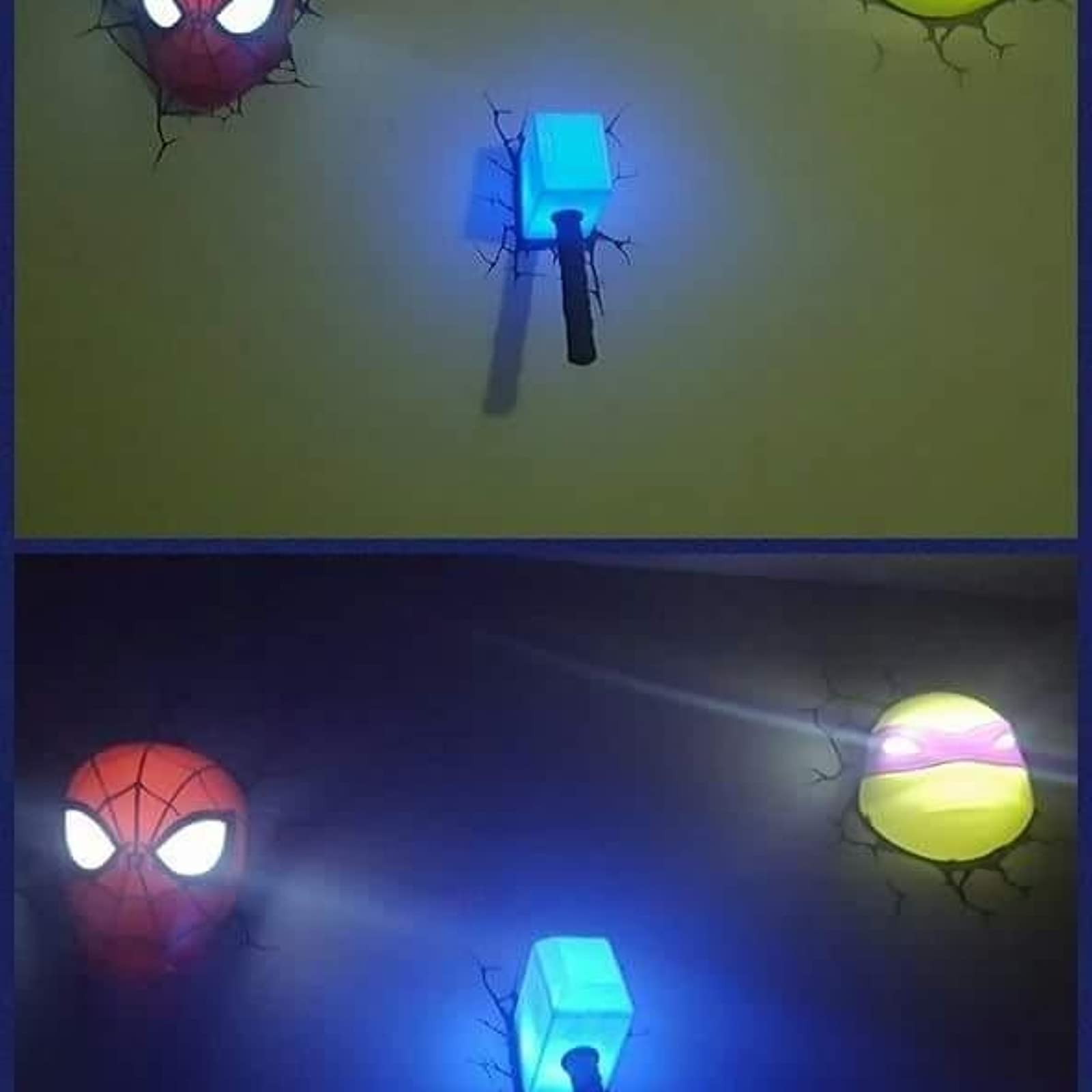 Spider man 3d wall light fx marvel spiderman mask 3d deco light ebay than cool looking the product is truly designed with parents concerns in mind colorful graphic wall stickers are included with every 3d deco light aloadofball Images