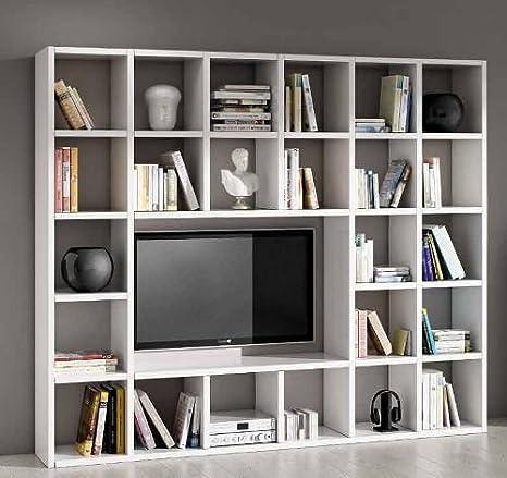 Legno&Design Parete attrezzata porta tv libreria soggiorno ...