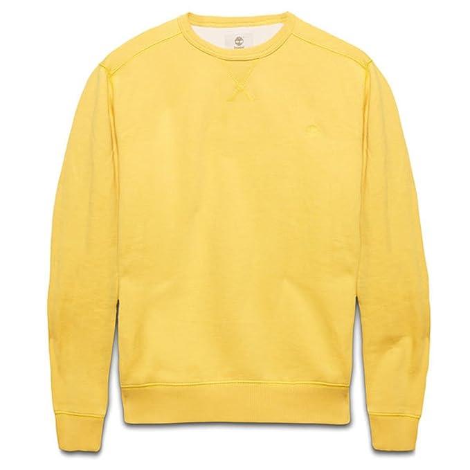Timberland Hombre Sudadera Pullover Exeter River Crew Talla M - algodón, amarillo, 40 %