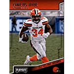 41189d6b404 2018 Playoff Football #45 Carlos Hyde Cleveland Browns Official NFL Trading.