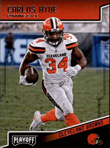 2018 Playoff Football #45 Carlos Hyde Cleveland Browns Official NFL Trading Card made by Panini