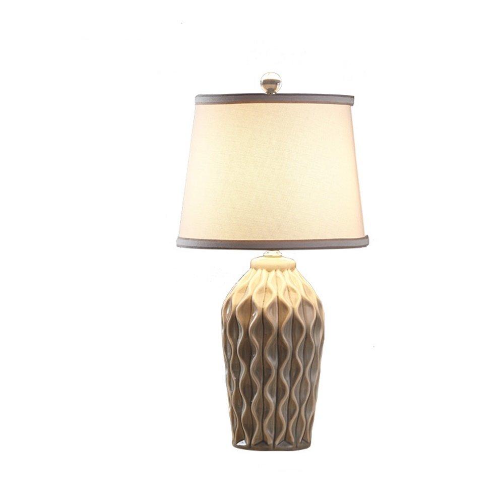 XiuXiu Nordic Modern Minimalistischen Keramik Stoff Tischlampe Nachttischlampe Wohnzimmer Wohnzimmer Wohnzimmer Studie Büro Schlafzimmer Dekoration Tischlampe (Farbe   Button switch) B07HMXZQJL | Charakteristisch  98803b