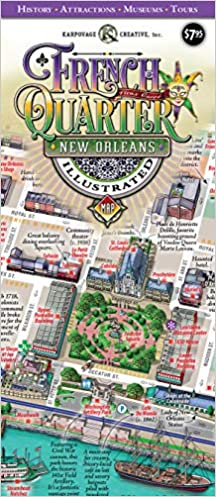 street map new orleans french quarter New Orleans French Quarter Illustrated Map Michael Karpovage 9780985653279 Amazon Com Books street map new orleans french quarter