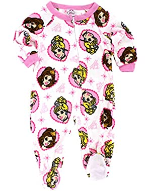 Princess Girls Fleece Blanket Sleeper Pajamas (Baby)