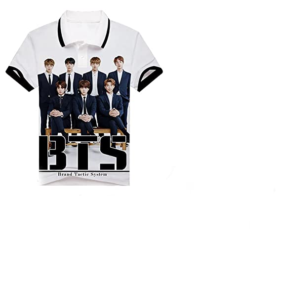 Amazon.com: Kpop BTS POLO lapel T-Shirt Bangtan Boys Full Color Top BTS Tshirts Suga Jin JIMIN Jung Kook J-Hope Rap-Monster V: Clothing