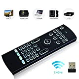 DIGOU® Multifunction Portable 2.4ghz MX3 Air Mouse Mini Wireless Keyboard Infrared Remote Control for Android TV Box Smart TV, PC, HTPC, Windows XP, Mac OS (White Backlit)
