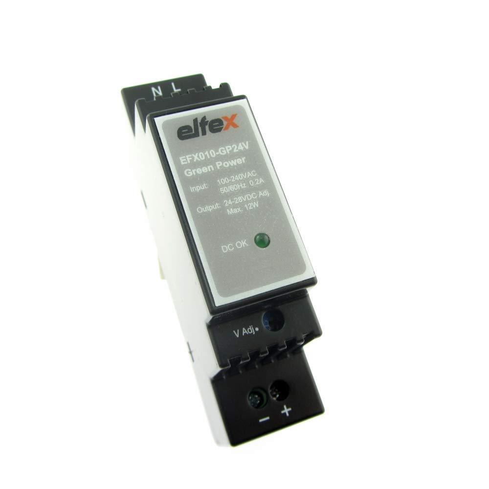 EFX010-GP24V Ajustable 24V-28V Elfex Fuente de Alimentaci/ón de Carriles 10W 24V Dc