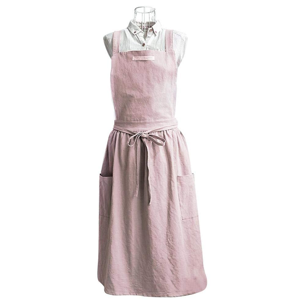 Draulic stile coreano Grembiule alla moda con tasca stile nordico in cotone